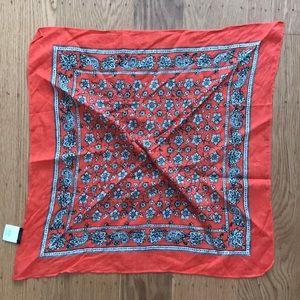 JCrew bandana print scarf in orange